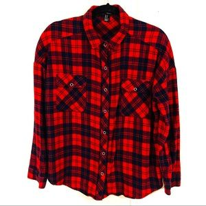 Forever 21 Plaid Button Up Plaid Flannel